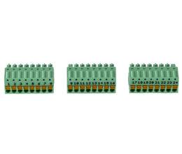 Screwless terminal blocks for the MP2x8i